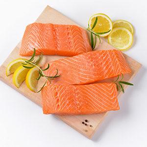 Supremas de salmón sin piel